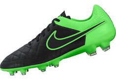 Nike Tiempo Legacy FG Soccer Cleats - Black and Green Nike Soccer 8429603acf8