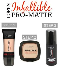 L'Oreal Paris Infallible Pro-Matte Products   Foundation, Powder and Setting Spray