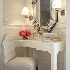 Cream Wall Paint, French, bathroom, Benjamin Moore Atrium White, Massucco Warner Miller