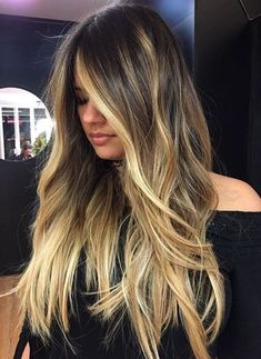 Ombre Balayage European Real Human Hair Wigs Wavy Full Lace Lace Front Wigs - July 28 2019 at Brown Ombre Hair, Brown Hair Balayage, Ombre Hair Color, Hair Color Balayage, Brown Hair Colors, Blonde Balayage, Hair Highlights, Blonde Ombre, Brown Blonde