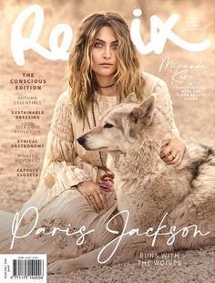 Paris Jackson on Wolf Therapy, Earthing in Remix Conscious Issue — Anne of Carversville Paris Jackson, Emotional Support Animal, Fashion Cover, Daily Fashion, Stress Disorders, The Jacksons, Military Veterans, Michael Jackson, Baby Knitting