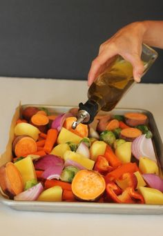 Roasted vegetables, I have my lovely mother to thank for introducing me. Thank you Mom! She kept raving about how good they were and somehow I just didn't believe her. Then one day I had the privilege of partaking and boy was I in for a surprise. They totally rocked my world. I couldn't...