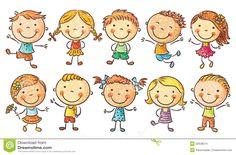 Happy School Kids Cartoon Waving Hand Stock Vector - Image: 50839546