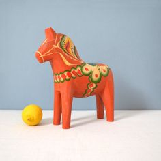 """Extra Large Vintage Dala Horse 10 1/2"""""""