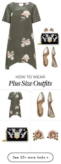 """""""Plus Size"""" by tired-unicorn on Polyvore featuring Zizzi, Bzees, Jimmy Choo and Les Néréides"""
