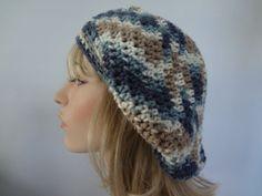 Multi Color Slouchy Tam Hat Cap Snood Beret.  Teens by yarnnscents, $15.00