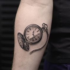 Clock and crow tattoo - 100 Awesome Watch Tattoo Designs <3 <3