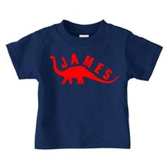 Personalized dinosaur t-shirt, birthday t shirt for boys - long-neck design on Etsy, $16.00