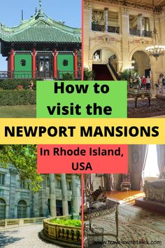Newport Rhode Island is famous for its opulent Gilded Age mansions. There are about 9 spectacular homes that belonged to the richest families of the 19th and 20th centuries for you see during your visit to Newport, and we put together a guide for you to make the most out of your trip back in time. America And Canada, North America, Canada Travel, Usa Travel, Travelling Tips, Traveling, Amazing Destinations, Travel Destinations, Travel Guides