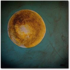 Trademark Fine Art Moon on Blue Canvas Art by Nicole Dietz, Size: 18 x 18, Multicolor