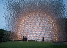 56-Foot-Tall Aluminum Honeycomb Structure Responds to the Buzzing of Bees Within London's Kew Gardens