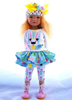 """~Funny Bunny!~Outfit for 13"""" Effner Little Darling by Sharon. SOLD for $99.00 on 3/21/15"""