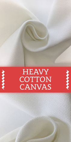Cotton Canvas in Optic White Different Types Of Fabric, Kinds Of Fabric, B And J Fabrics, Textile Fabrics, Cotton Canvas, Canvas Fabric, Hand Embroidery Tutorial, Fashion Vocabulary, Fashion Design Drawings