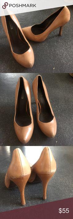 Selling this Vera Wang tan leather pumps on Poshmark! My username is: bwitni. #shopmycloset #poshmark #fashion #shopping #style #forsale #Vera Wang #Shoes
