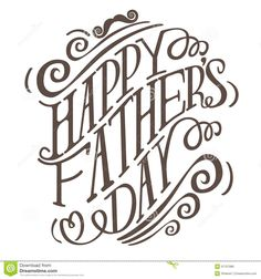 Happy Fathers Day Hand Drawn Typography EPS 10 Vector Stock Vector ...