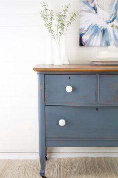 Denim Blue Milk Paint Furniture