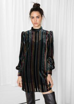 & Other Stories | Stripe Velvet Dress