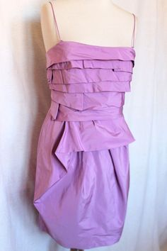 Pinko Black Robe Bustier Neuve 150 € Taille EU 38 40 Couleur Lilas   eBay 0258525f4d3