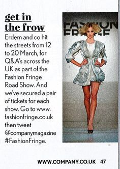 Fashion Fringe Road Show 2012 - Company Magazine