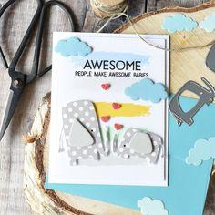MFT Jungle Friends New Baby Card | Craft For Joy Designs