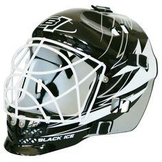 Street Hockey Målvaktsmask Lightning Svart/Vit