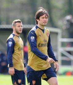 Tomas Rosicky & Jack Wilshere #Arsenal #ArsenalU21 #Legend #WelcomeBack #TomasRosicky #JackWilshere