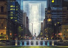 Artist Fong Qi Wei continues to create time slice photos of picturesque locations using a fascinating reinterpretation of landscape photography. Cityscape Photography, Landscape Photography, Geometric Stencil, Time Lapse Photography, Life Photography, Creators Project, Slide, Cinemagraph, Dusk To Dawn