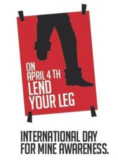 """Raise your Pant Leg and """"Lend Your Leg"""" for Landmine Awareness April 4th. Read more http://www.miratelinc.com/blog/raise-your-pant-leg-and-lend-your-leg-for-landmine-awareness-today/"""