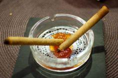 Cigarrillos de morcilla canaria en Las Palmas.   por ORLANDO Ortega, Hostelero en restaurante Lilium  http://www.onfan.com/es/especialidades/arrecife/restaurante-lilium/cigarrillos-de-morcilla-canaria?utm_source=pinterest&utm_medium=web&utm_campaign=referal