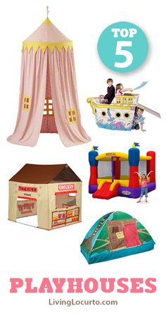 5 Awesome Playhouses for Kids. Great Christmas Gift Ideas!  #christmas
