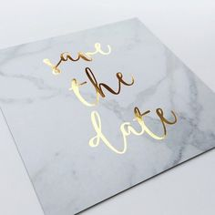 gold and grey foiled save the date cards #weddingcolors #weddingideas #goldwedding #greywedding
