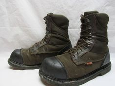 Red Wing 5803 Worx Men's 11.5 M Brown Steel Toe Lace Up Work Safety Boots #RedWingWorx #WorkSafety
