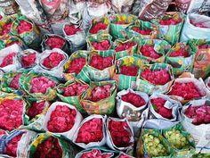 Roses in Flower market, Bangkok, Thailand