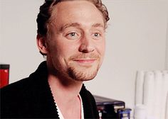 """You've got issues, man."" ""Thank you!"" I love this gif because you can see his laugh start in his throat, go to his nose, and then just burst out! A beautiful sincere thing :) ♥ From the Loki'd outtakes. -- I can't stop looking at it."