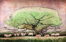 """""""Apple Tree II"""" Etching by Stephen Quiller"""