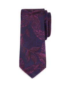 BEYTON | Textured floral tie - Purple | Ties & Bow Ties | Ted Baker