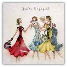You're Engaged Engagement Berni Parker Designs Card. £2.75 - FREE Postage!