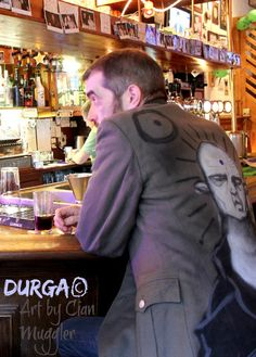 Exclusive Up-cycled DDR German Army Jacket Up-cycled with Graffiti Art by artist Cian Muggler