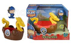 Mike the Knight's world is filled with action and excitement – by land and by sea! Perfect for fun in the tub, the Viking ship really floats. This bath time toy includes a Mike bath squirter and the Viking ship. With Mike and his Viking Adventure Bath Toy, kids can set sail on an exciting bath time mission! - To order: http://www.shopaholic.com.ph/toys.html#!/Fisher-Price-Nickelodeons-Mike-The-Knight-Bath-Viking-Adventure-Ship/p/30861241/category=6708182