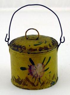 minature toleware lunch pail