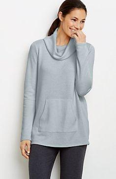 Pure Jill draped cowl-neck top