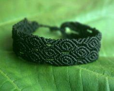 Flower Child Macrame Bracelet by GlobalGypsyJewelry on Etsy