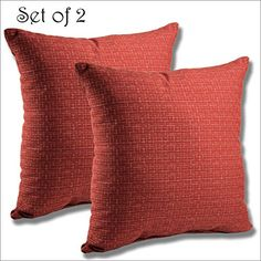 Renew your outdoor patio furniture with a new SET OF 2 Sunbrella Outdoor/Indoor THROW PILLOW the dimensions for this throw pillow is x x and it has a waterfall edge construction. Sunbrella Fabric, Outdoor Cushions, New Set, Terracotta, Indoor Outdoor, Waterfall, Pride, Construction, Patio