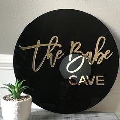 Round 3D Acrylic Business Sign