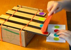 Homemade xylophone craft! great homemade musical instrument idea for kids