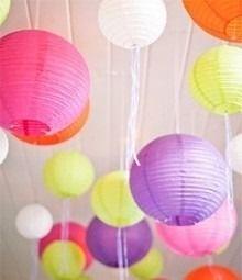 Resultado de imagen para ideas para decoración con globos chinos azules