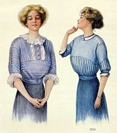 Fashion illustration from the September 15, 1910 issue of Ladies' Home Journal (the Paris Fashion Issue).