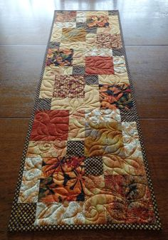 Thanksgiving Table Runner, Fall Quilted Table Runner, Autumn Table Runner, Reversible Table Runner, Quilted Table Runners Christmas, Thanksgiving Table Runner, Table Runner And Placemats, Table Runner Pattern, Thanksgiving Decorations, Table Topper Patterns, Quilted Table Toppers, Easter Placemats, Star Wars Quilt