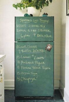 Chalkboard Refrigerator. This is happening.