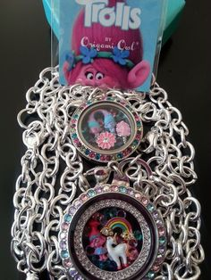 NEW ORIGAMI OWL TROLLS: Over the Heart set: Poppy, Unicorn, Rainbow Cotton Candy #OrigamiOwl #traditional